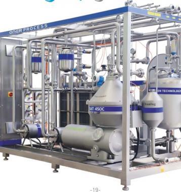 Pasteurizador HTST 8,000 Lts/Hr Marca Oner